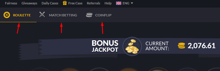 CSGOEmpire gambling games