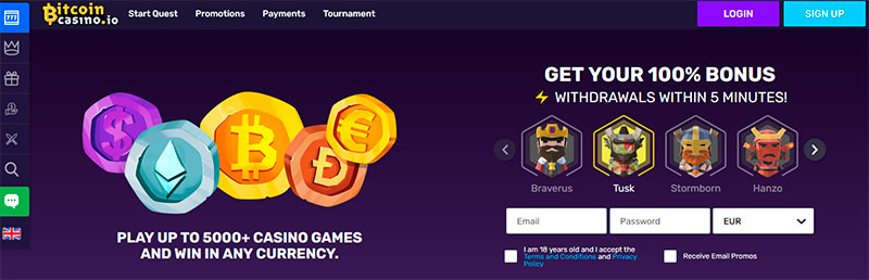 bitcoin casino app